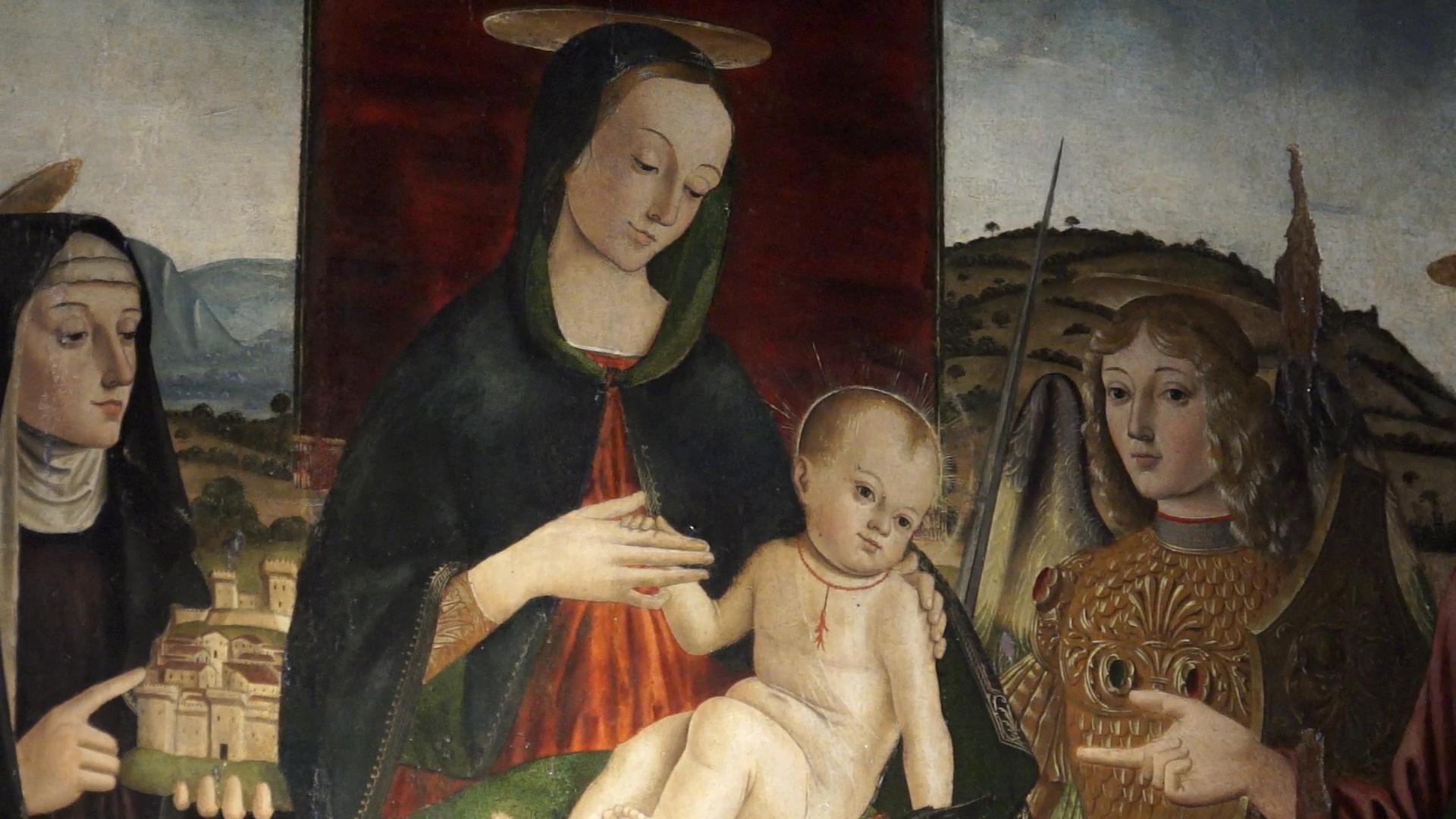 Quarantesima puntata. La Gradara del Quattrocento nella pala della Madonna col bambino di Giovanni Santi
