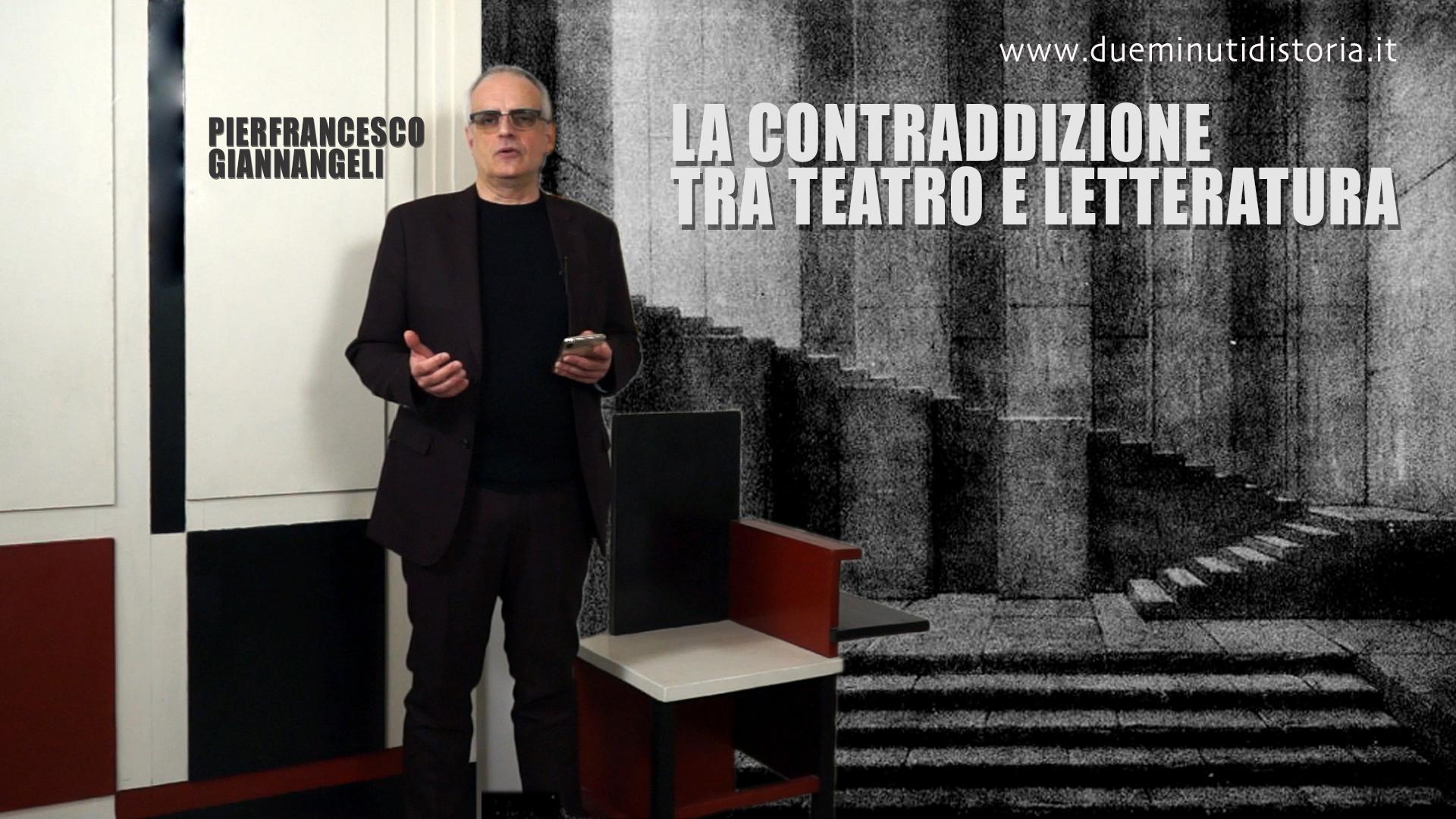 La contraddizione tra teatro e letteratura