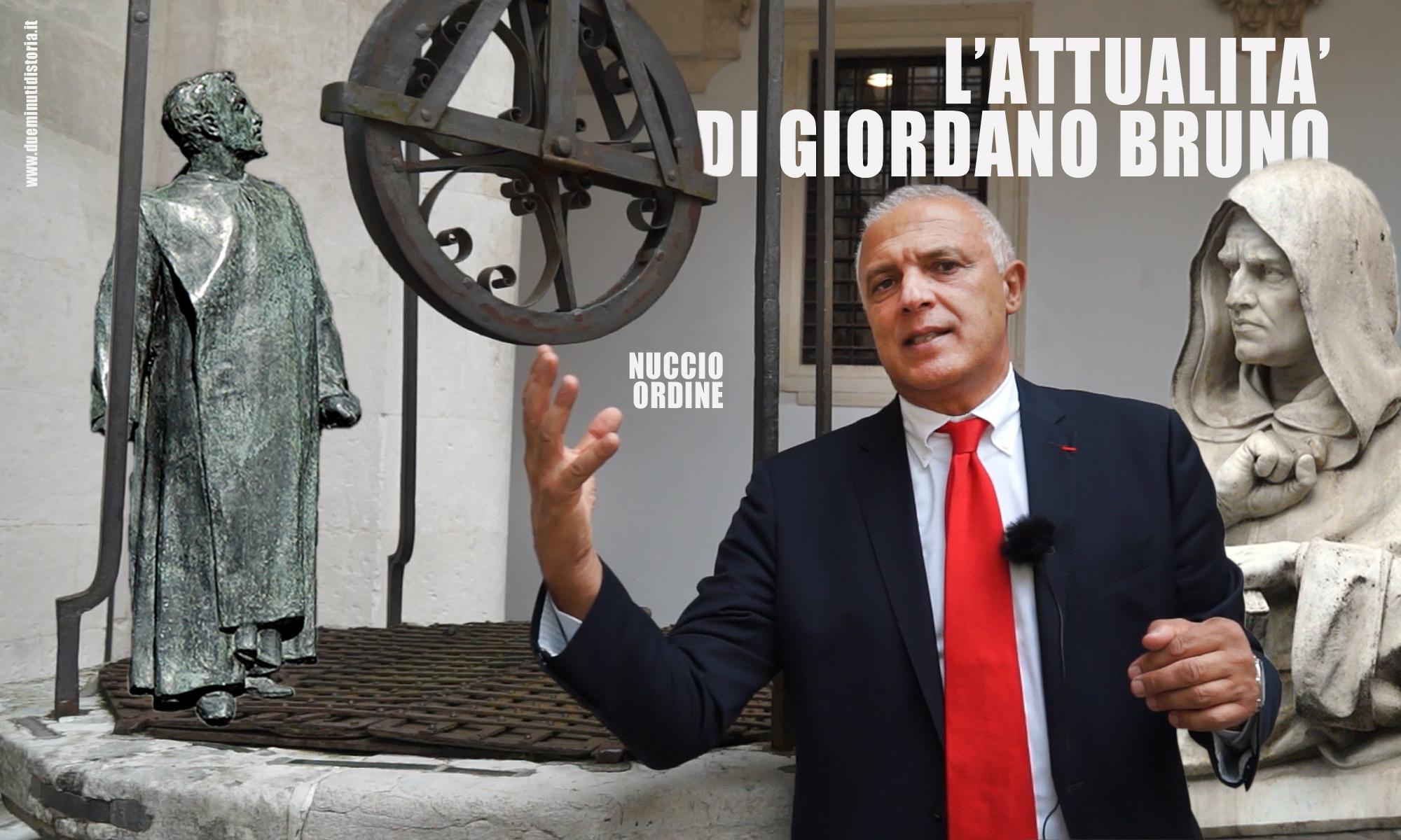 Nuccio Ordine: «L'attualità di Giordano Bruno»
