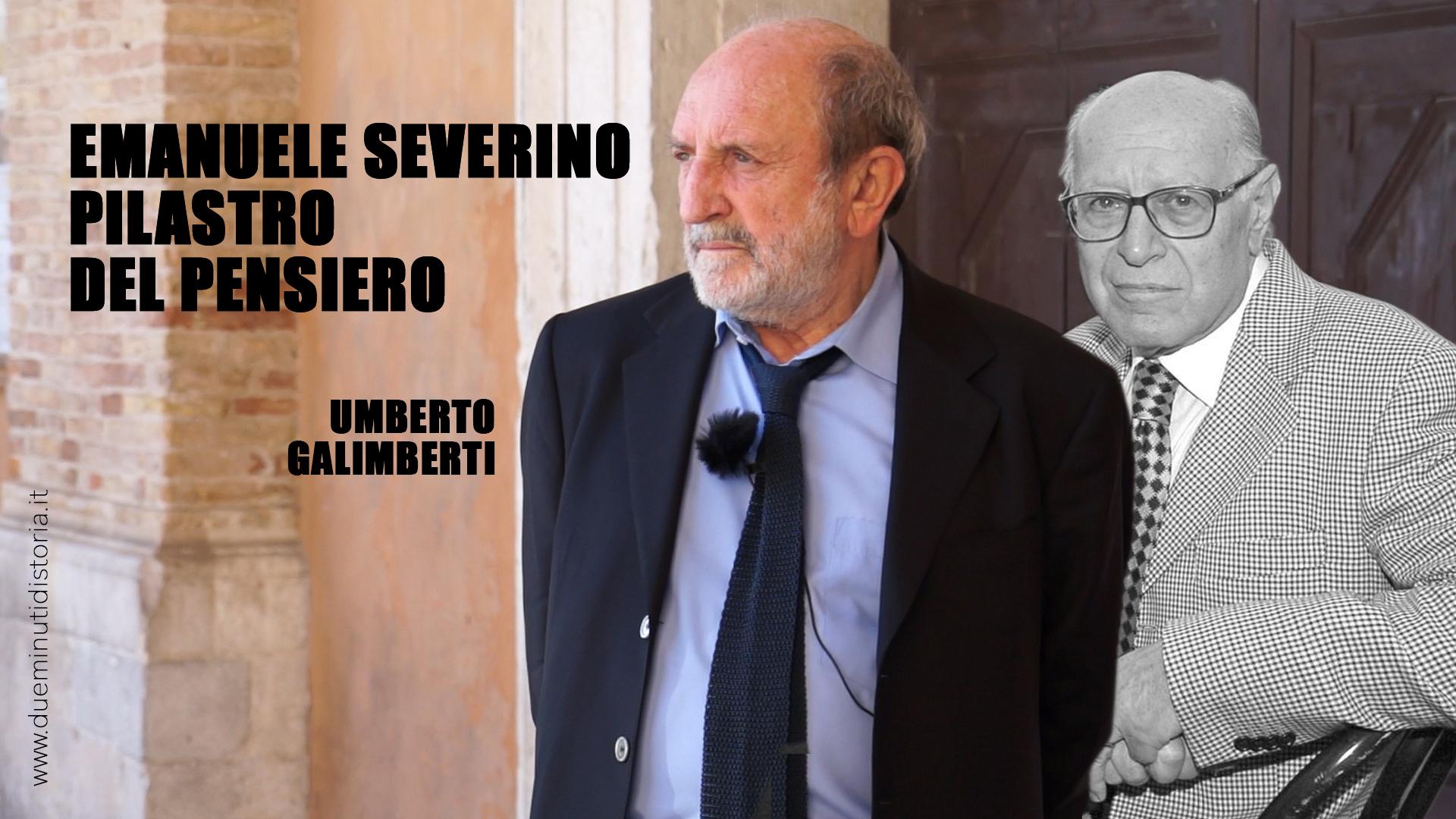 Umberto Galimberti: «Emanuele Severino, il mio maestro»